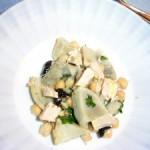 Salade de coeurs d'artichauts aux pois chiches, citron et cubèbe